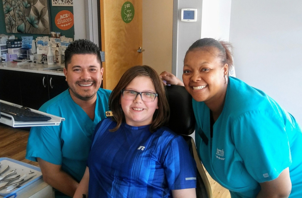 Buford Family Orthodontics patient and team