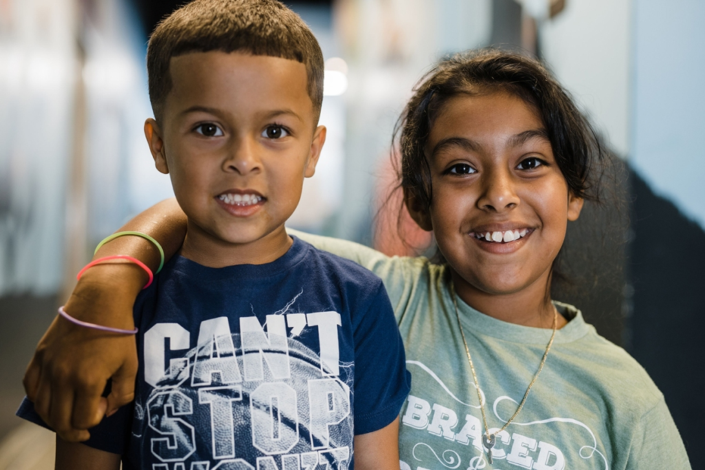 Fayetteville Family Orthodontics brother and sister braces patients