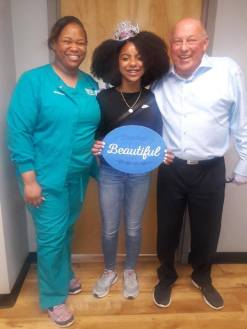 orthodontist and braces patient