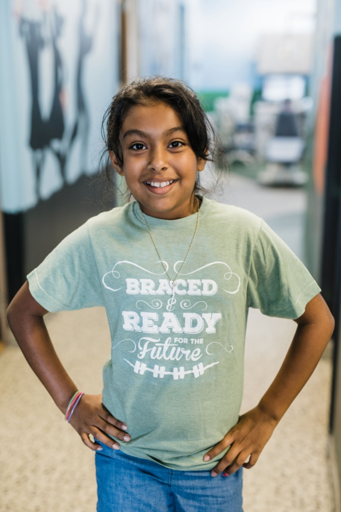 Gainesville Family Orthodontics patient is braced and ready